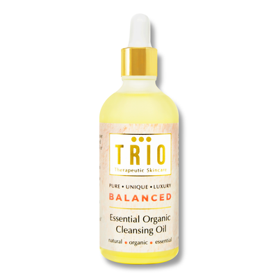 trio balanced essential organic cleansing oil