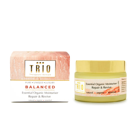 Trio Therapeutic Skincare - Balanced -  Essential Organic Moisturiser Repair & Revive