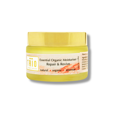 trio essential organic moisturiser repair and revive