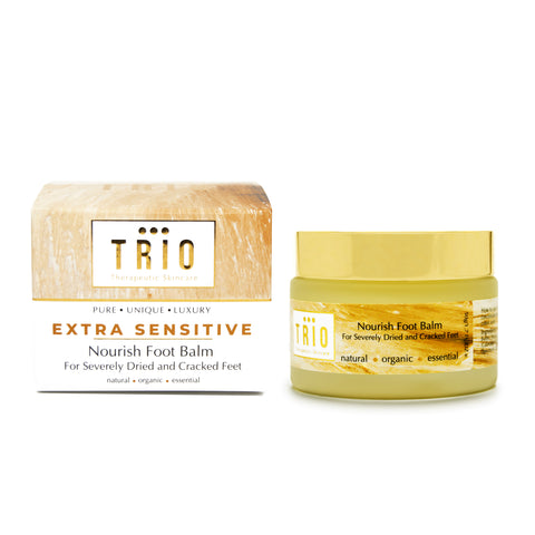 Trio Therapeutic Skincare - Extra Sensitive - Nourishing Foot Balm for Severely Dry and Cracked feet