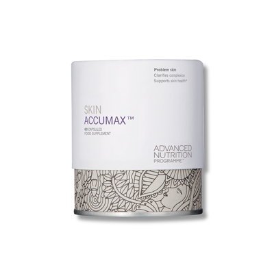 advanced nutrition programme skin accumax 60 capsules food supplement for skin clarity