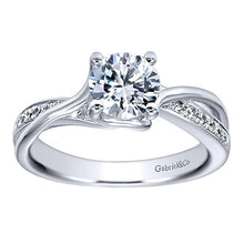 14kwg Diamond Gabriel Engagement Ring