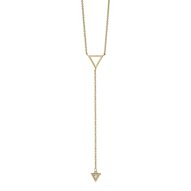 Modern Triangle Diamond Necklace