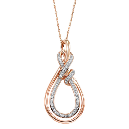 Love's Crossing Rose Gold Pendant
