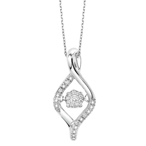 Sterling Silver Rhythm of Love Pendant