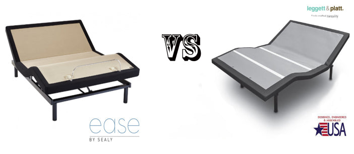 Ease Adjustable Base BySealy Versus Falcon Adjustable Base By Leggett & Platt