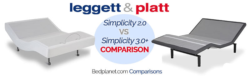 Leggett & Platt Simplicty 2.0 Adjustable Bed Vs Simplicity 3.0 Adjustable Bed Comparison