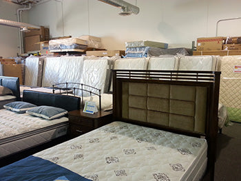Lots of mattresses in our warehouse