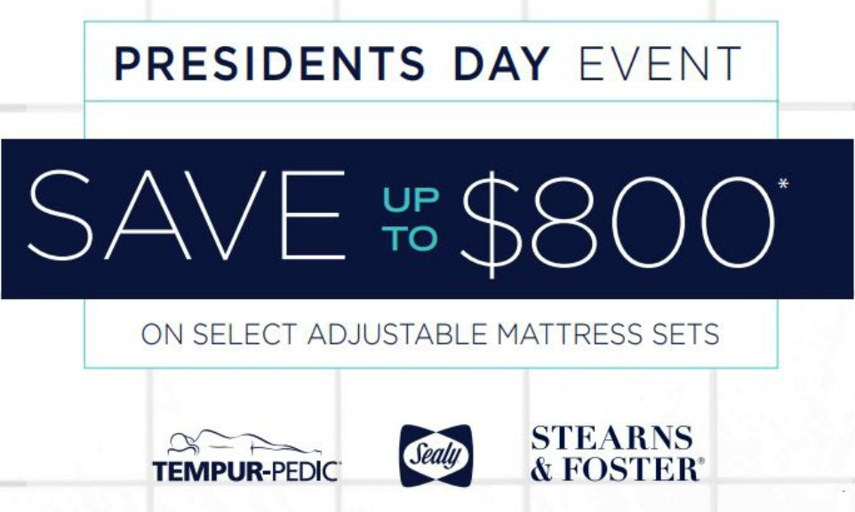 tempur sealy presidents day event