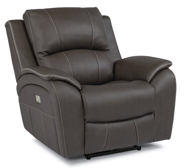 Flexsteel Marina Power Recliner With Power Headrests