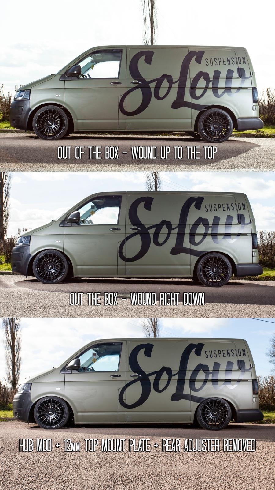 Solow suspension coilovers VW T5/T6