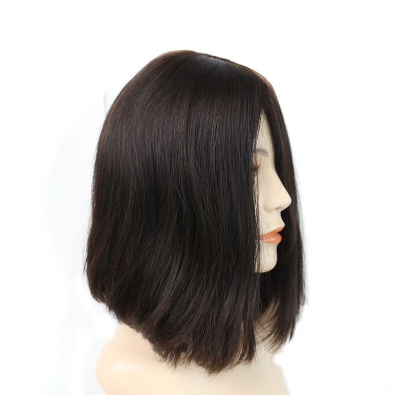 Silk Top Jewish Wigs Double Drawn Kosher Wigs