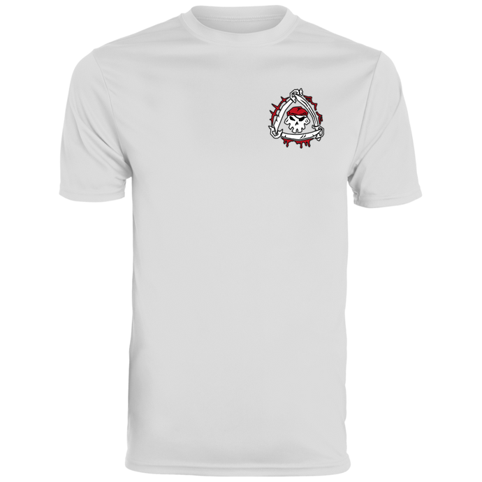 White/Black Cutthroat Men's Wicking T-Shirt