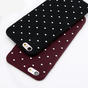 Wine Red Ploka Dots Case