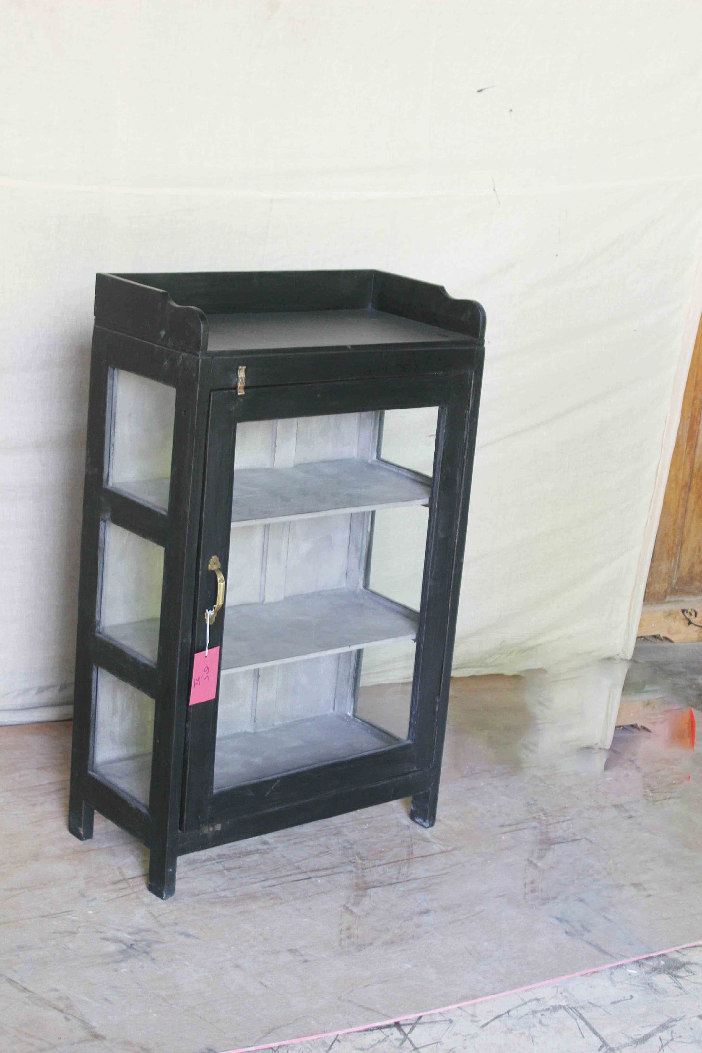 Small Black Glass Cabinet