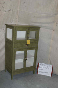 Green Glass Cabinet