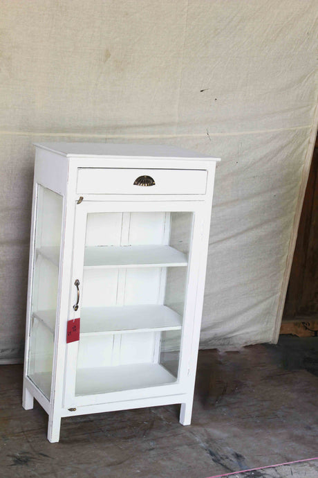 Small White Cabinet with Top Drawer
