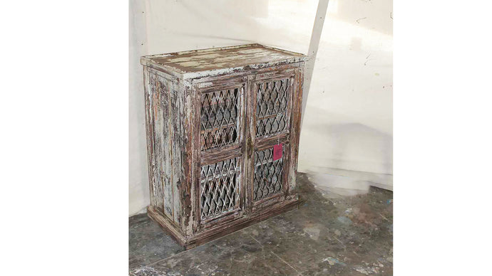 Mesh Style Wooden Cabinet