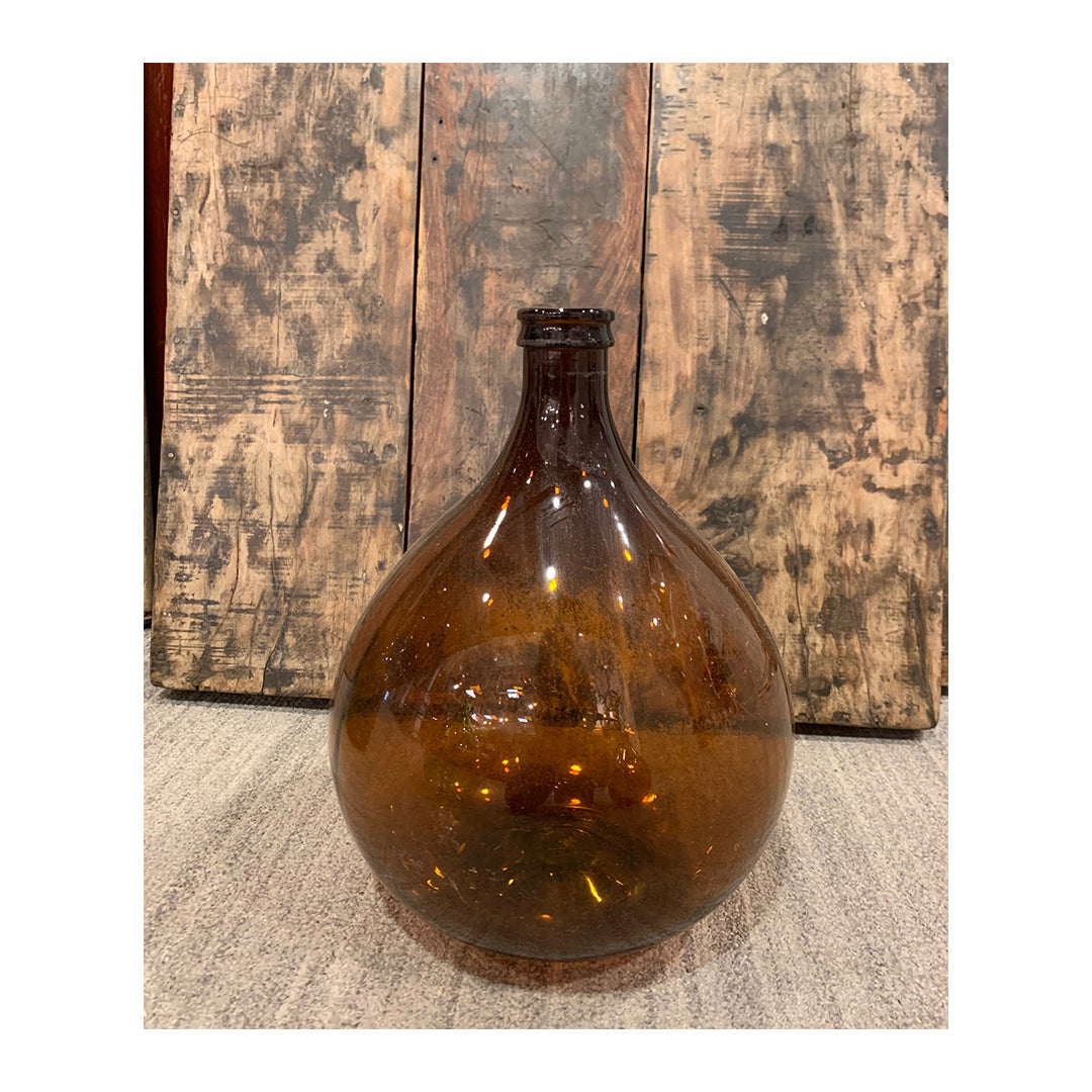 Amber Demijohn- Small | Glass French Carboy