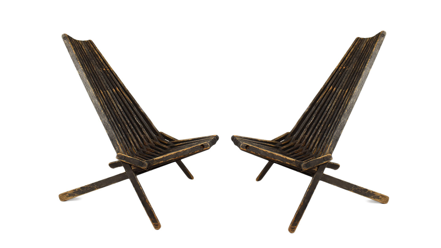 Adirondack Outdoor Wooden Chair, Pair