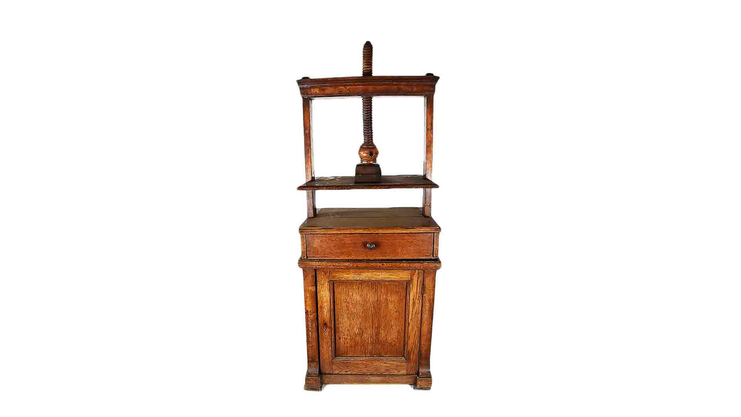 19th Century Book Press Cabinet