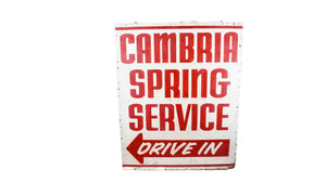 Cambria Sign Board- Red