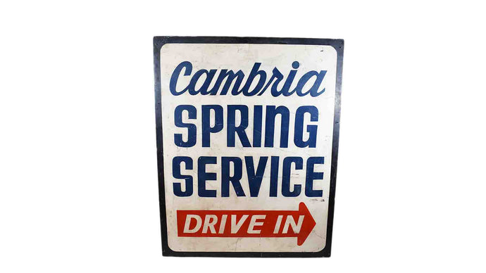 Cambria Wall Sign- Blue