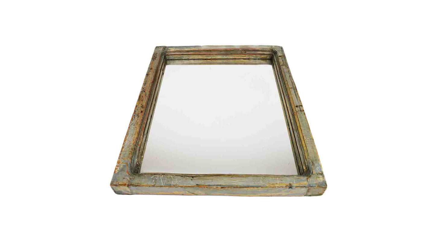 Distressed Mirror- Pale blue
