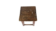 Load image into Gallery viewer, Distressed Wooden Stool
