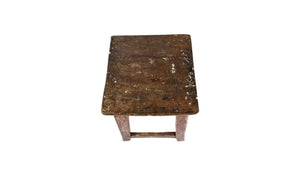 Distressed Wooden Stool