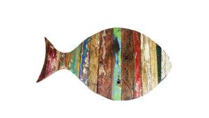 Reclaimed Wood Fish Wall Art | Reclaimed Wood from Indonesian Boat Parts