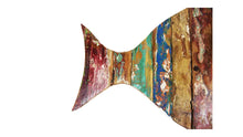 Load image into Gallery viewer, Reclaimed Wood Fish Wall Art | Reclaimed Wood from Indonesian Boat Parts