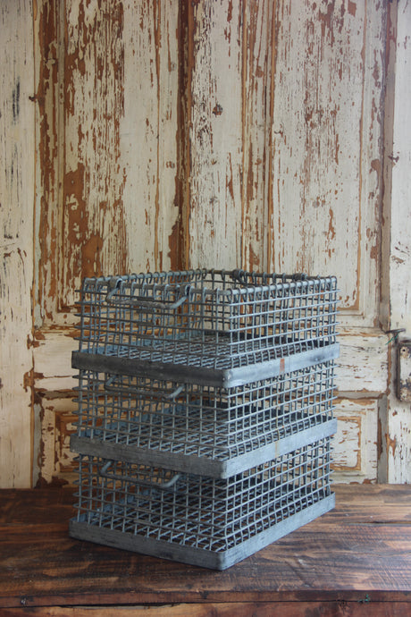 German Galvanized Industrial Wire Basket