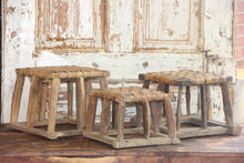 Load image into Gallery viewer, Vintage Wood Wicker Riser, Farmhouse Wicker Stool