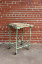 Load image into Gallery viewer, Industrial Metal Table with Wheel, Rustic Coffee Table
