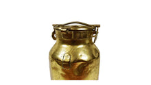 Load image into Gallery viewer, Gold Colored Milk Can