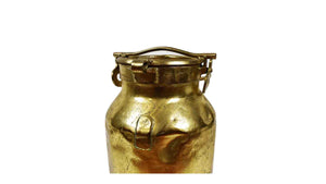 Gold Colored Milk Can