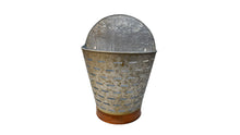 Load image into Gallery viewer, Wall Galvanized Half Olive Bucket