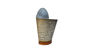 Wall Galvanized Half Olive Bucket