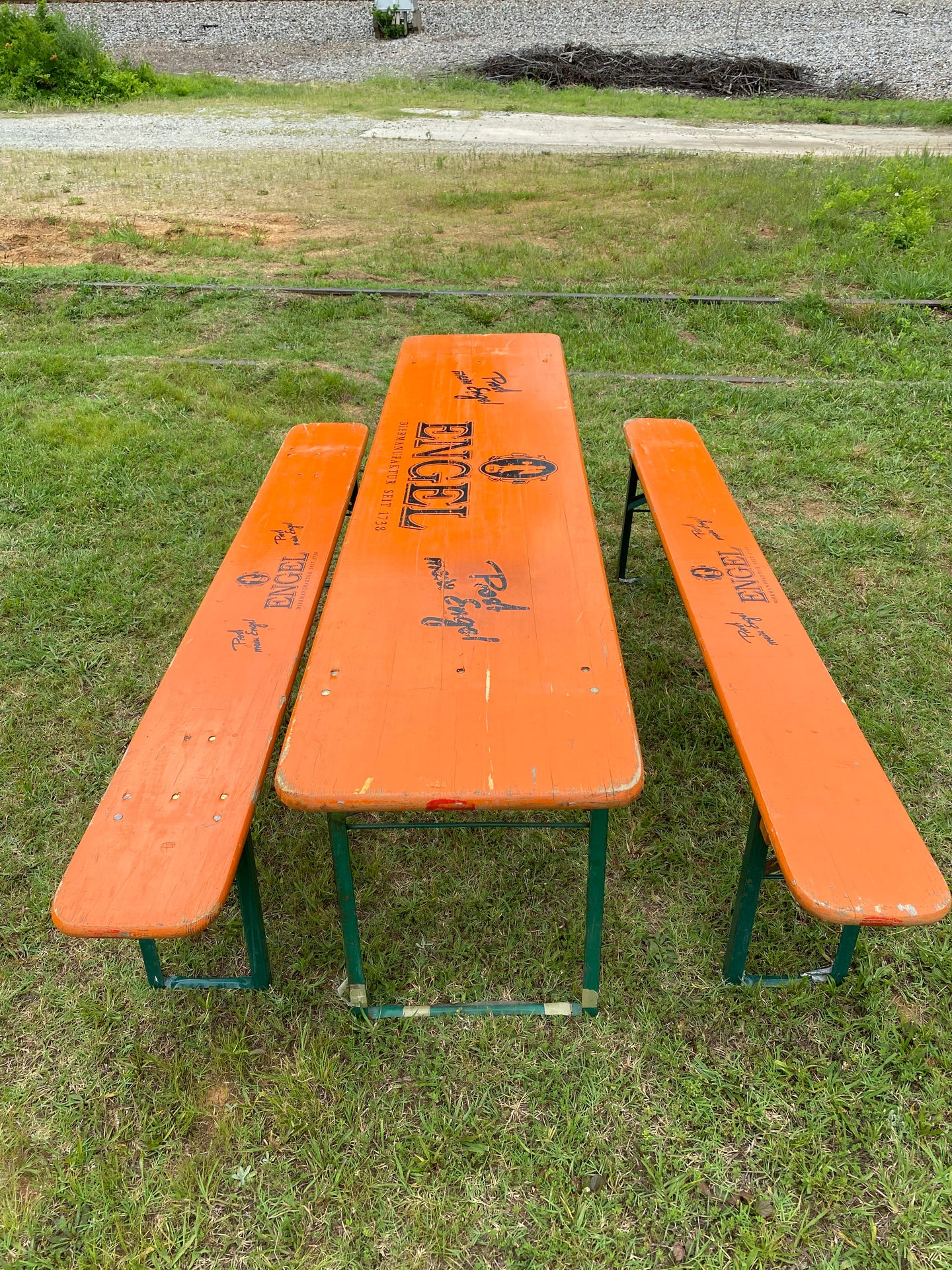 Vintage Beer Garden Set with Stenciling
