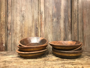 Rustic Vintage Wood Bowl