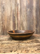 Load image into Gallery viewer, Rustic Vintage Wood Bowl