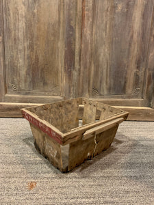 Vintage Chicory Baskets, Farmhouse Wood Crate Basket