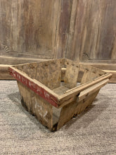 Load image into Gallery viewer, Vintage Chicory Baskets, Farmhouse Wood Crate Basket