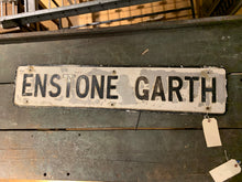 Load image into Gallery viewer, Enstone Garth Road Sign