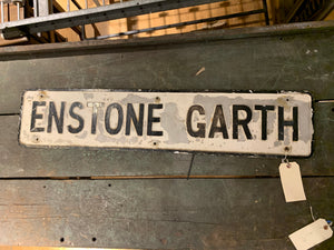 Enstone Garth Road Sign