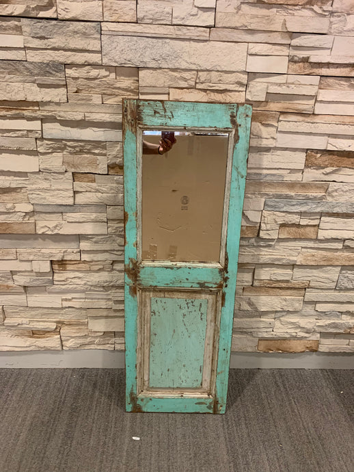 Turquoise Blue Mirror Door