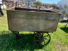 Load image into Gallery viewer, 3 Wheeler Wooden Cart