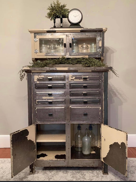 Vintage Dental Metal Cabinet