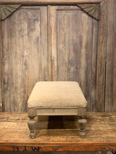 Load image into Gallery viewer, Rustic Vintage Fabric Ottoman